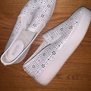 Micheal Kors white shoes